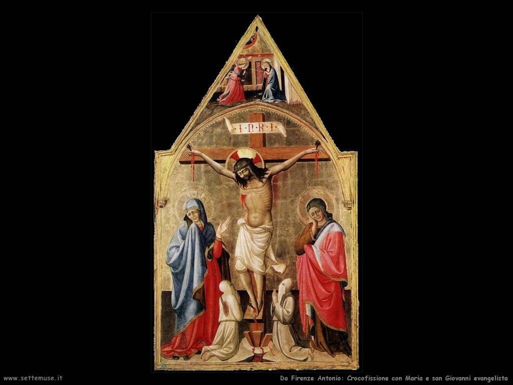 da firenze antonio Crocifissione con Maria e san Giovanni evangelista