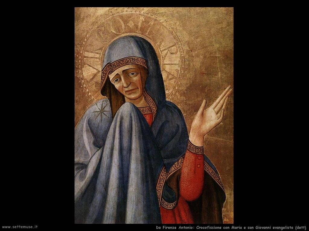da firenze antonio Crocifissione con Maria e san Giovanni evangelista (dett)
