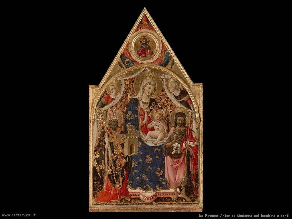 da firenze antonio Madonna col bambino e santi