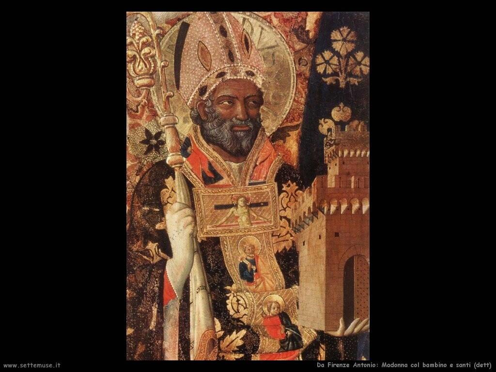 da firenze antonio Madonna col bambino e santi (dett)
