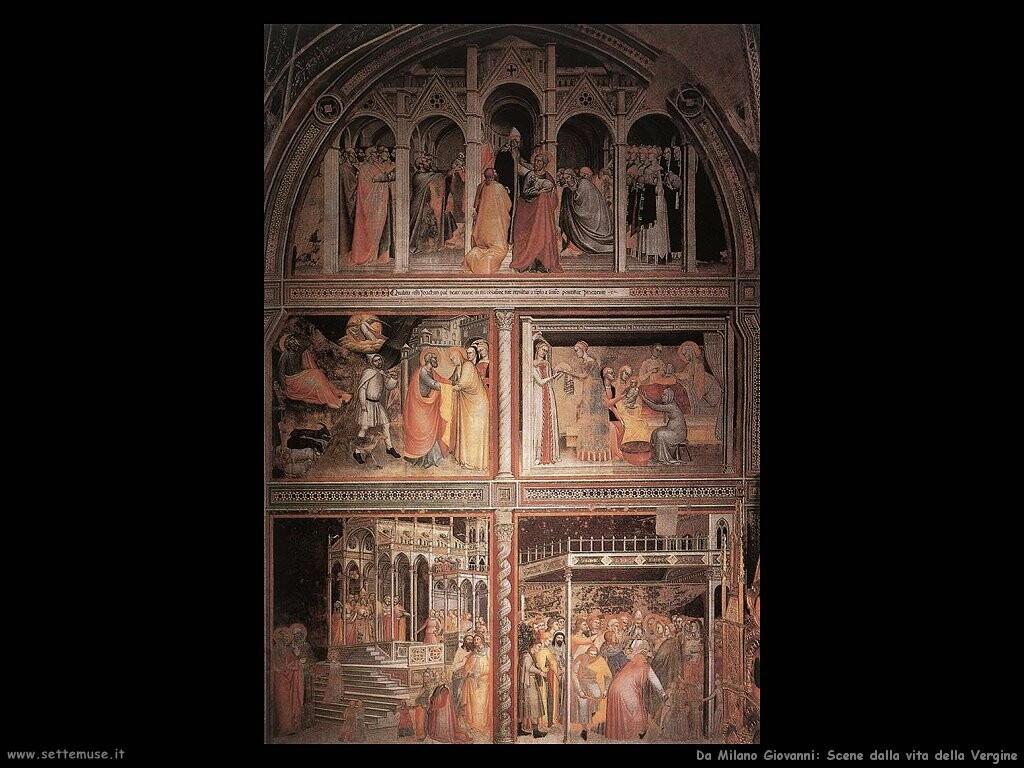 da milano giovanni Scene dalla vita della Vergine