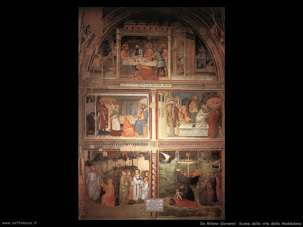 da milano giovanni  Scene dalla vita di Maria Maddalena