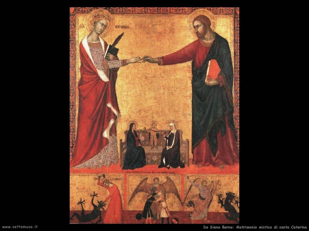 da siena barna  Il matrimonio mistico di santa Caterina
