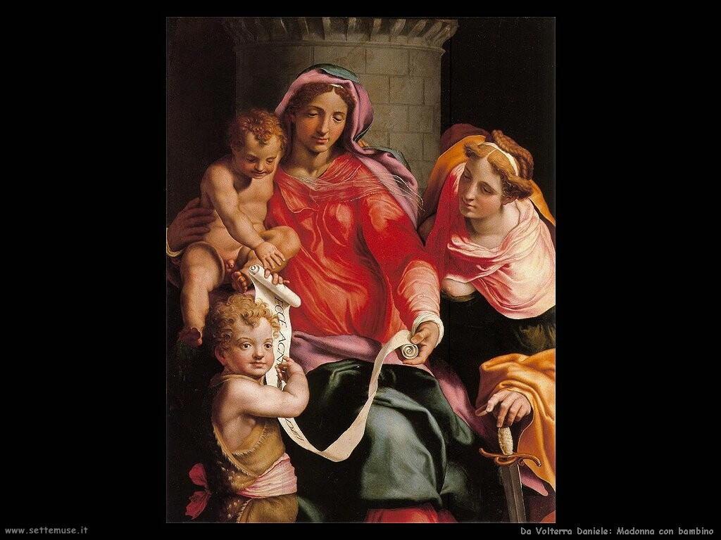 da volterra daniele Madonna con bambino