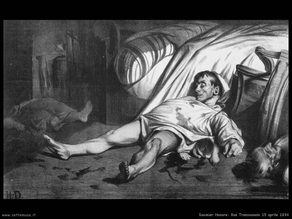daumier honore  Rue Transnonain 15 aprile 1834