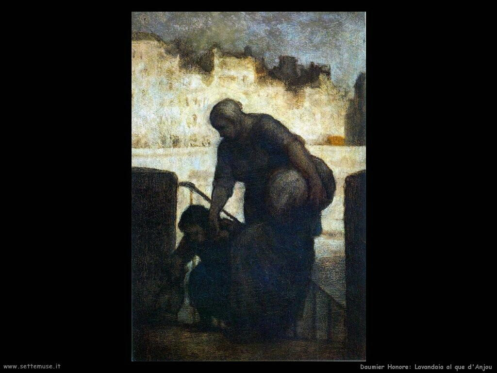 daumier honore Lavandaie al quai d'anjou