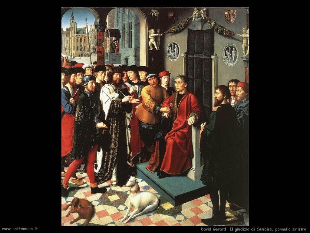 david gerard Il giudizio di Cambyses (pannello sinistro)