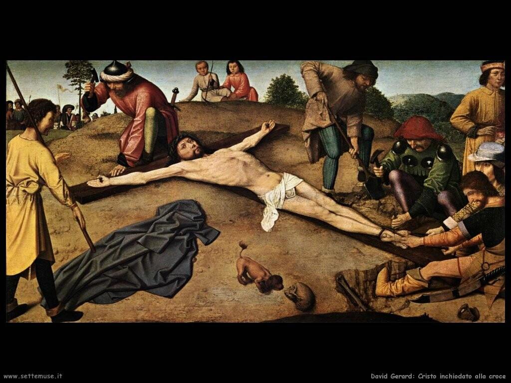 david gerard  Cristo inchiodato alla croce