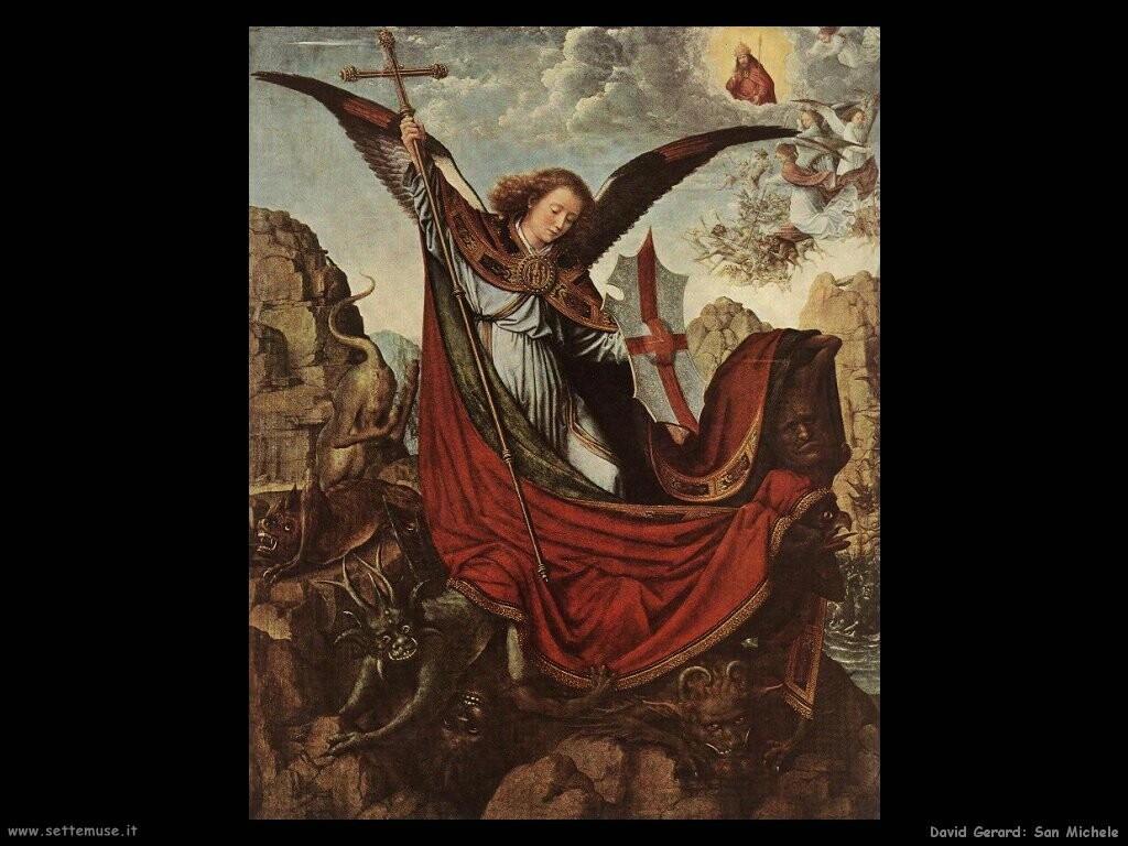 david gerard  Pala d'altare di san Michele