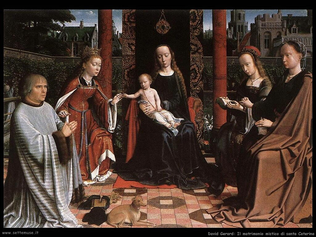 david gerard  l matrimonio mistico di santa Caterina