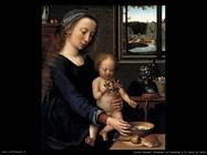 david gerard Vergine e bambino con la zuppa di latte