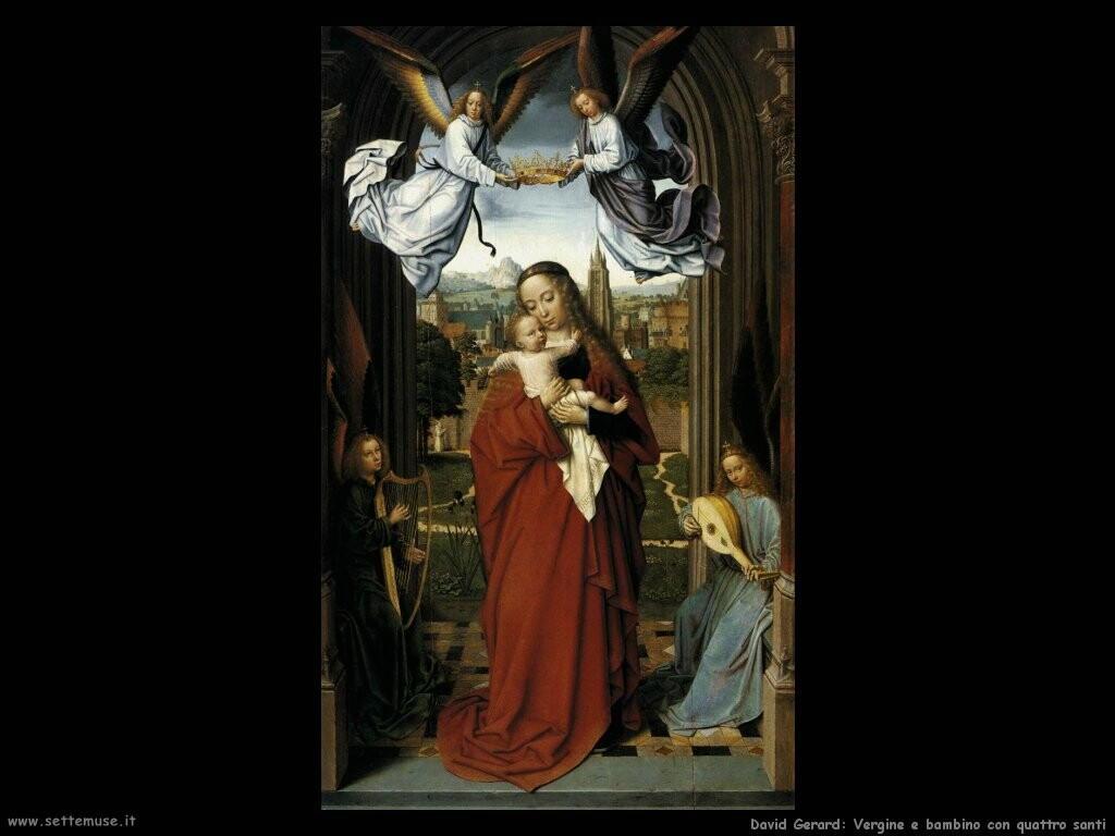 david gerard  Vergine e bambino con quattro angeli