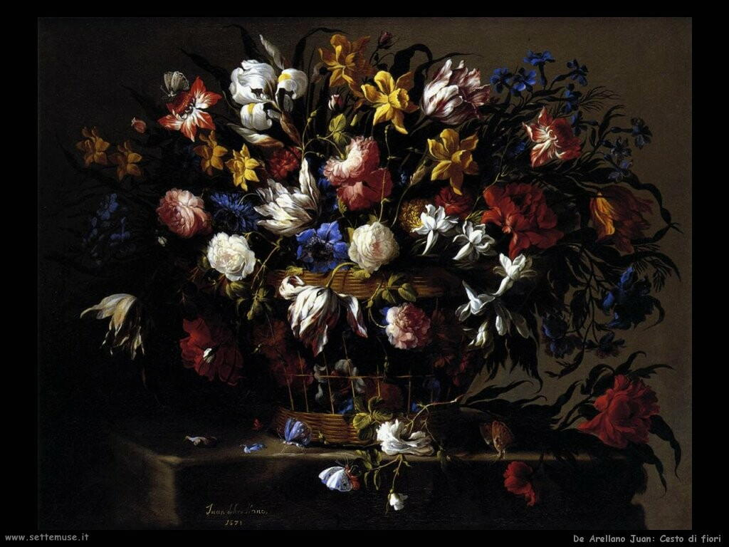 de arellano juan Cesto di fiori