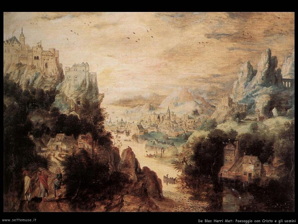 de bles herri met Paesaggio con Cristo e degli uomini