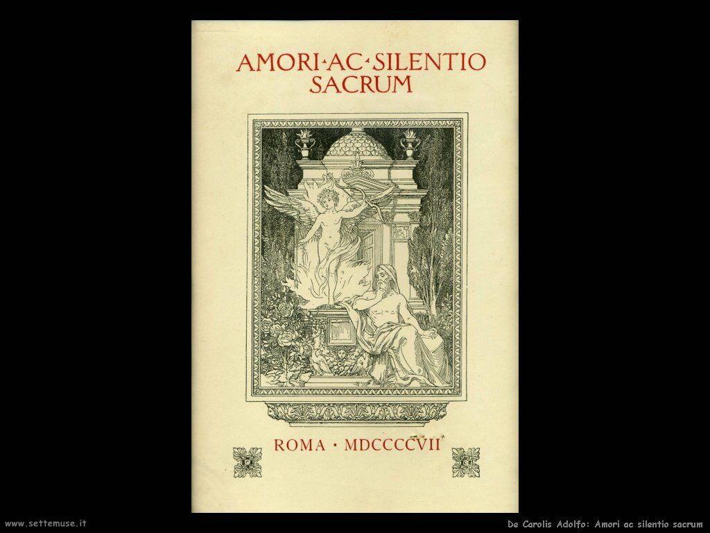 de_carolis_adolfo Amori ac silentio sacrum