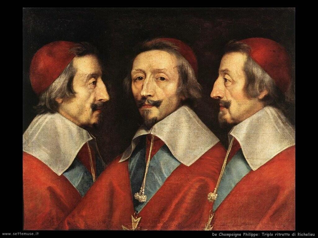 de champaigne philippe Triplo ritratto di Richelieu