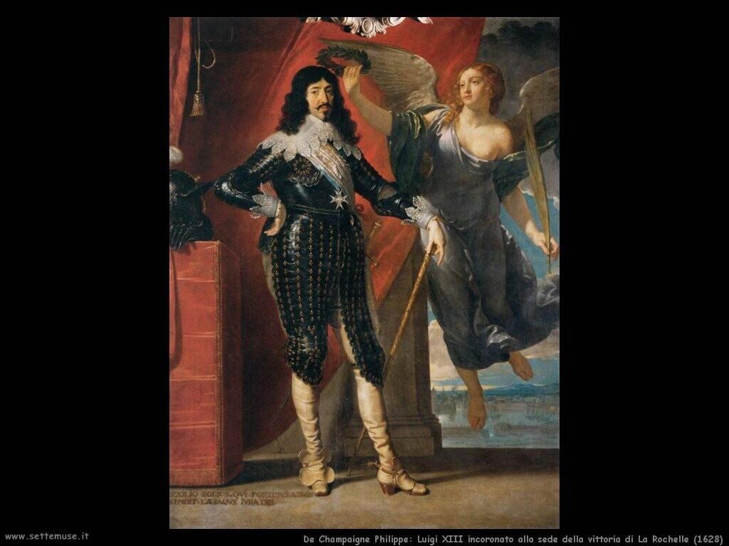 de champaigne philippe Luigi XIII incoronato alla sede della vittoria a La Rochelle (1628)