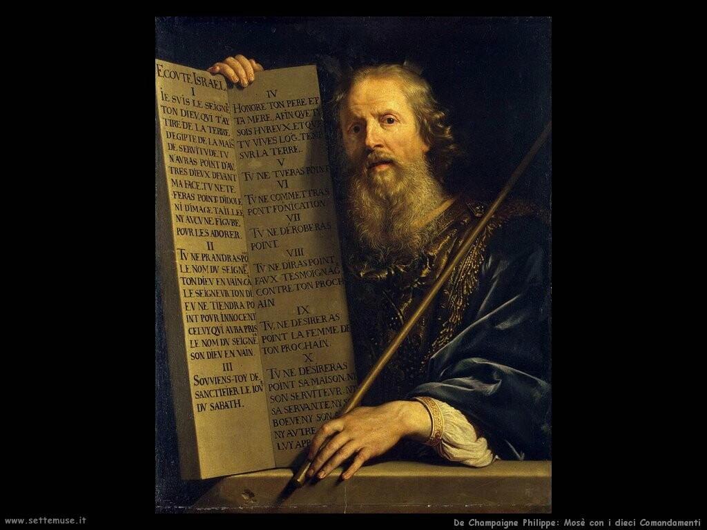 de champaigne philippe Mosè con i Dieci Comandamenti
