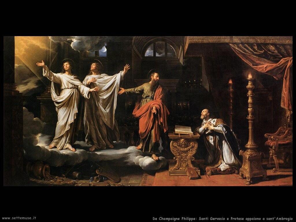 de champaigne philippe San Gervaso e Protase appaiono a sant'Ambrogio