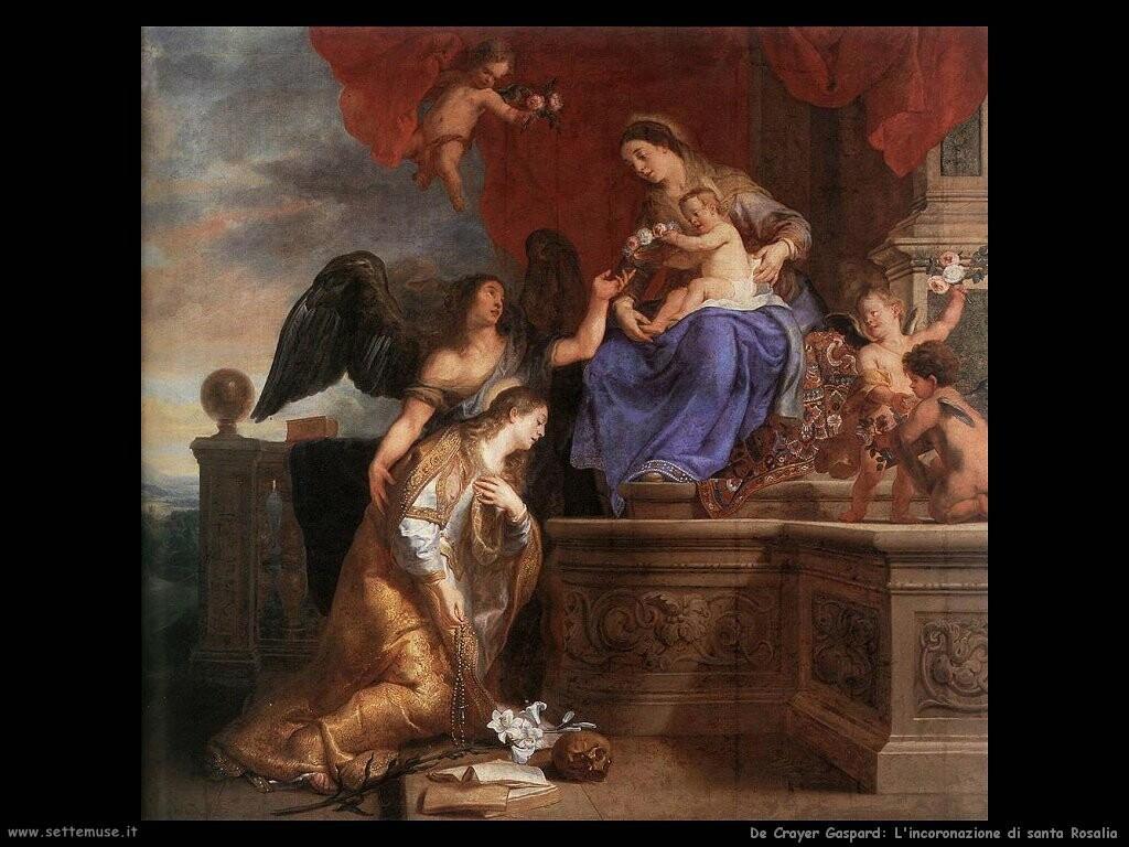 de crayer gaspard  Incoronazione di santa Rosalia