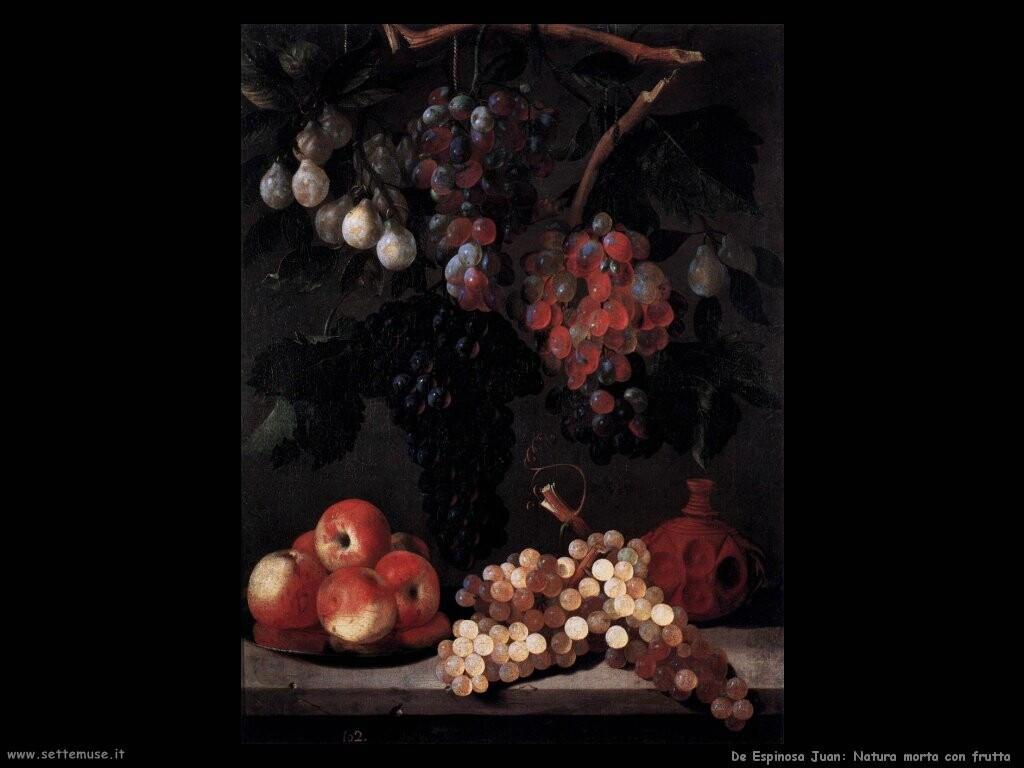 de espinosa juan Natura morta con frutta