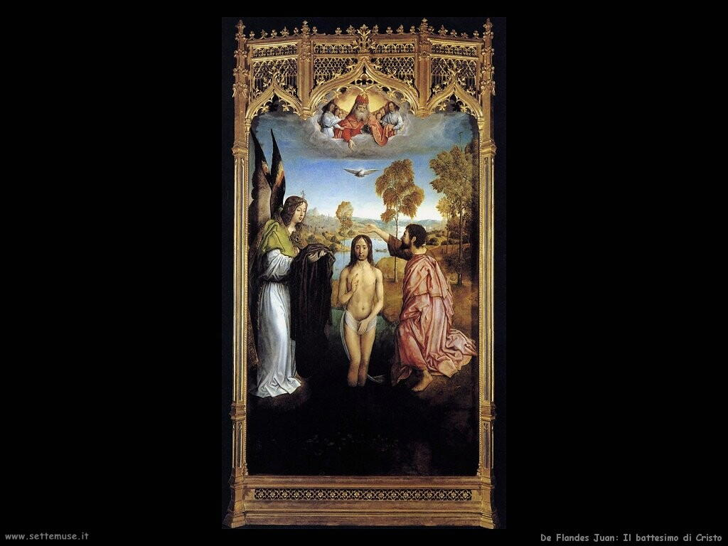 de flandes juan  Battesimo di Cristo