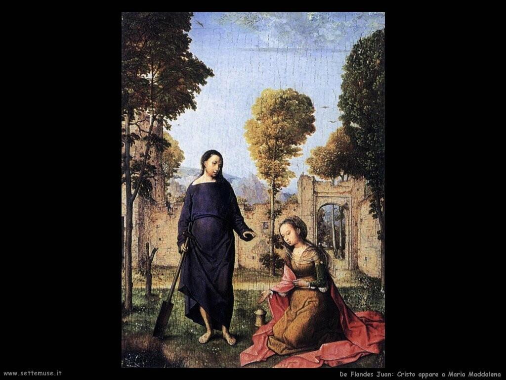 de flandes juan Cristo appare a Maria Maddalena