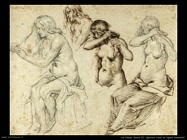 de gheyn jacob II Quattro studi di figure femminili
