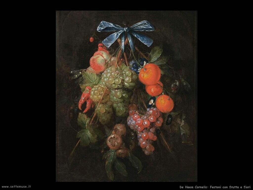 de heem cornelis Festone con frutta e fiori