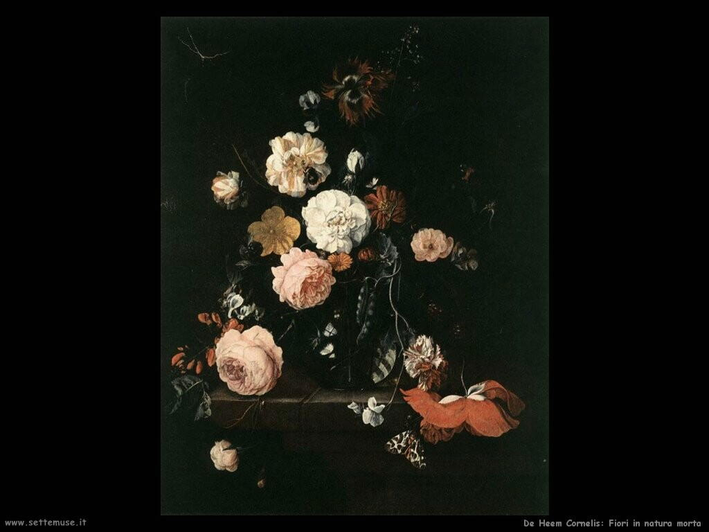 de heem cornelis Natura morta con fiori