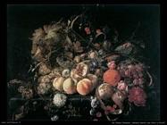de heem cornelis Natura morta con fiori e frutta