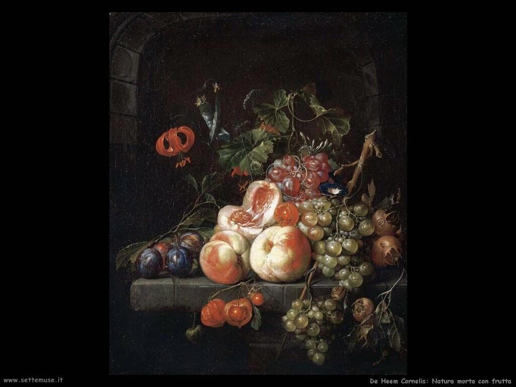 de heem cornelis Natura morta con frutta