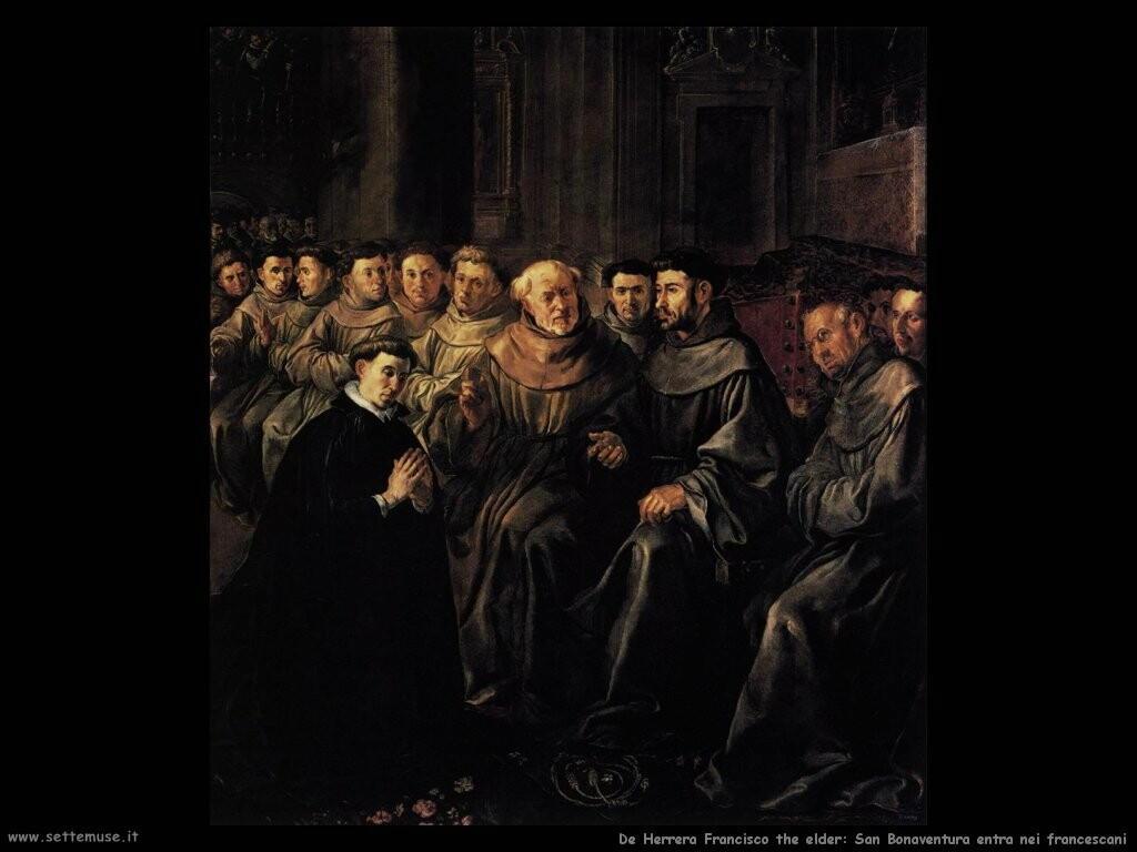 de herrera francisco the elder San Bonaventura entra nel convento francescano