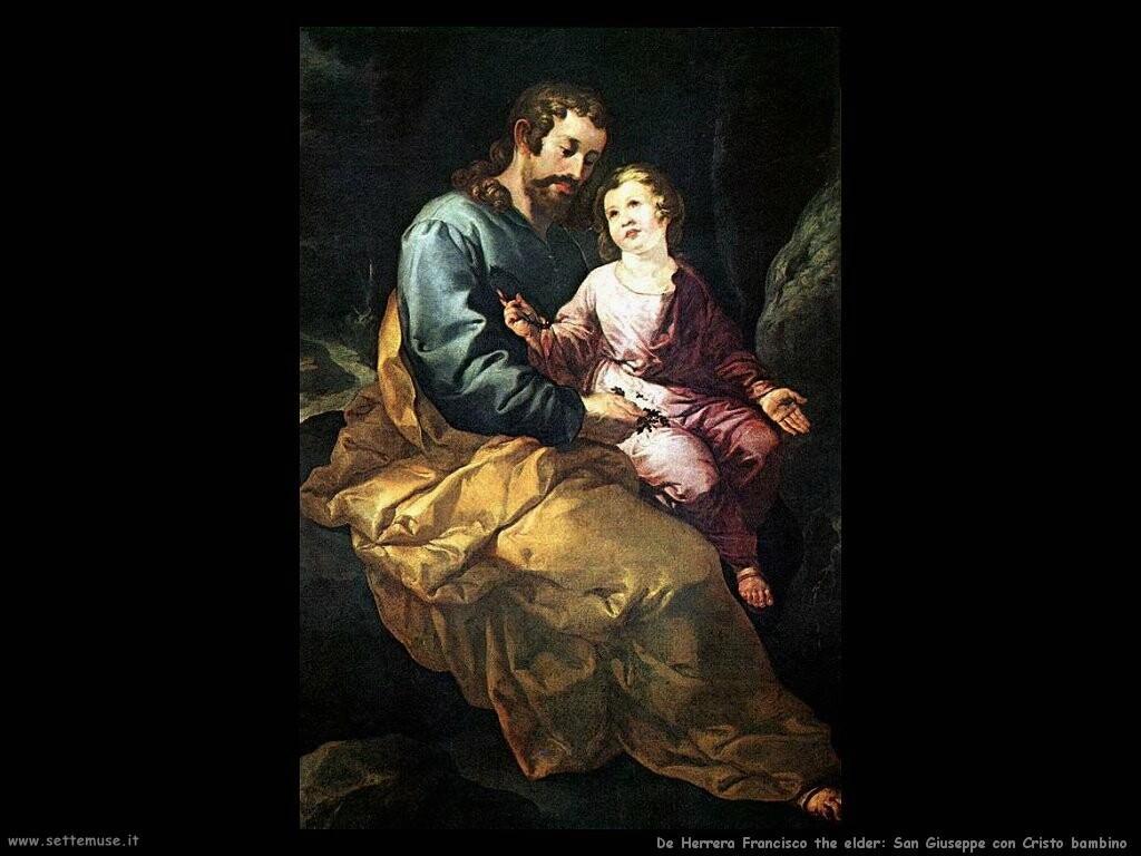 de herrera francisco the elder San Giuseppe e il Cristo bambino