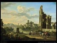 de heusch jacob Roma, vista dei Fori Romani