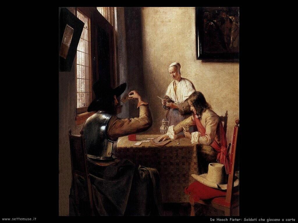 de hooch pieter Soldati che giocano a carte