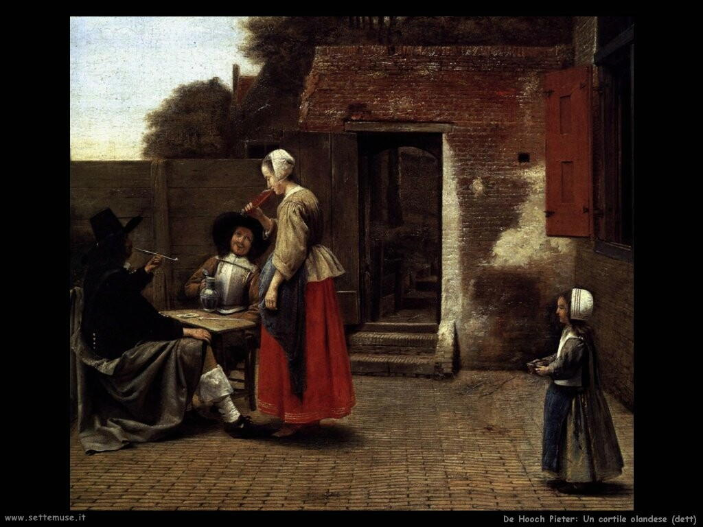 de hooch pieter Cortile olandese (dett)