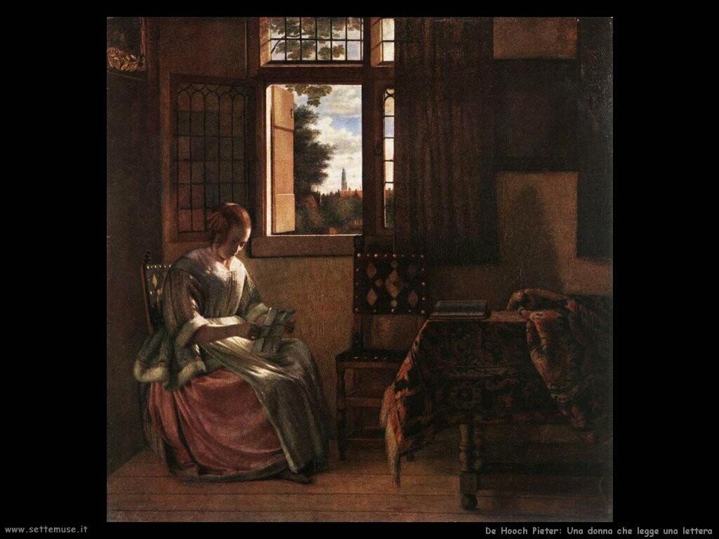 de hooch pieter Una donna mentre legge una lettera