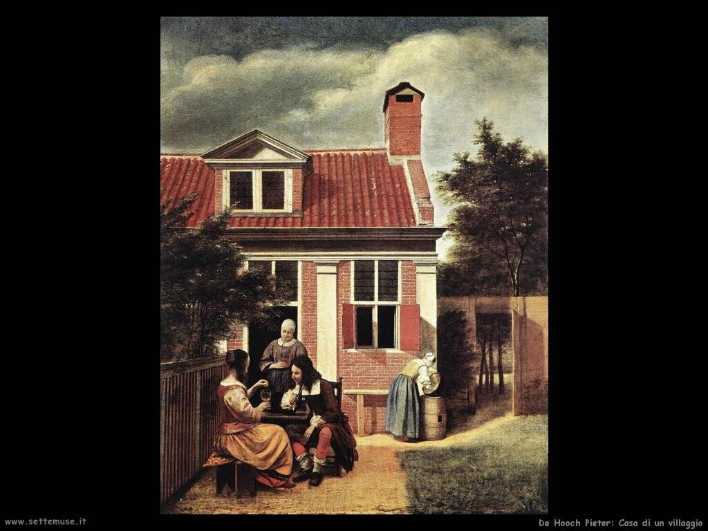 de hooch pieter Casa di villaggio