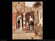 de hooch pieter  Cortile di casa olandese (1658)