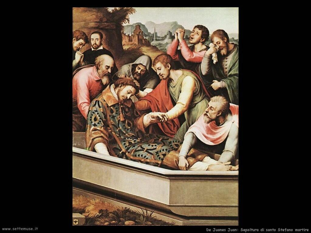 de juanes juan  La sepoltura di santo Stefano martire