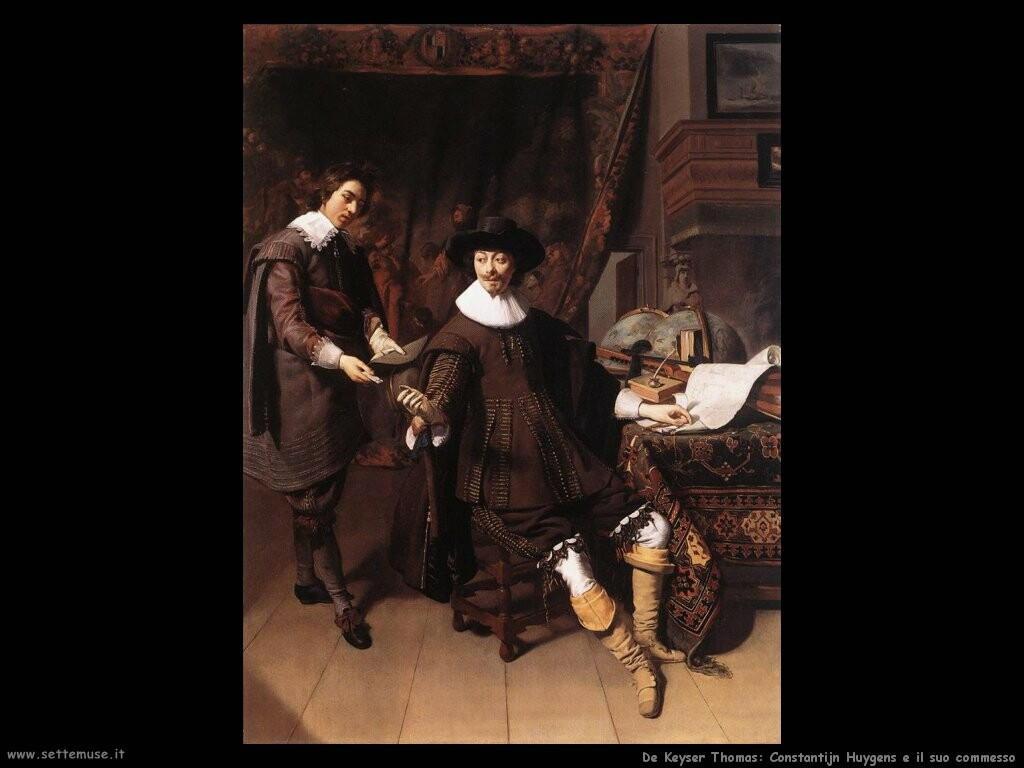 de keyser thomas Constantijn Huygens e il suo commesso