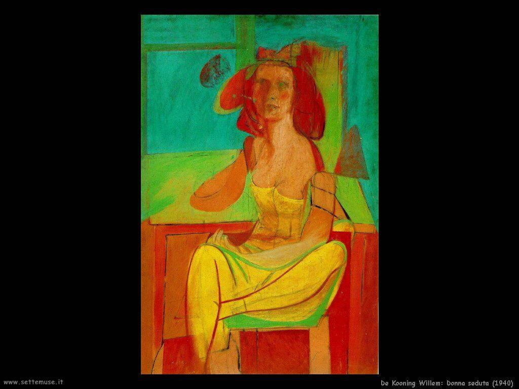 de_kooning_willem Donna seduta (1940)