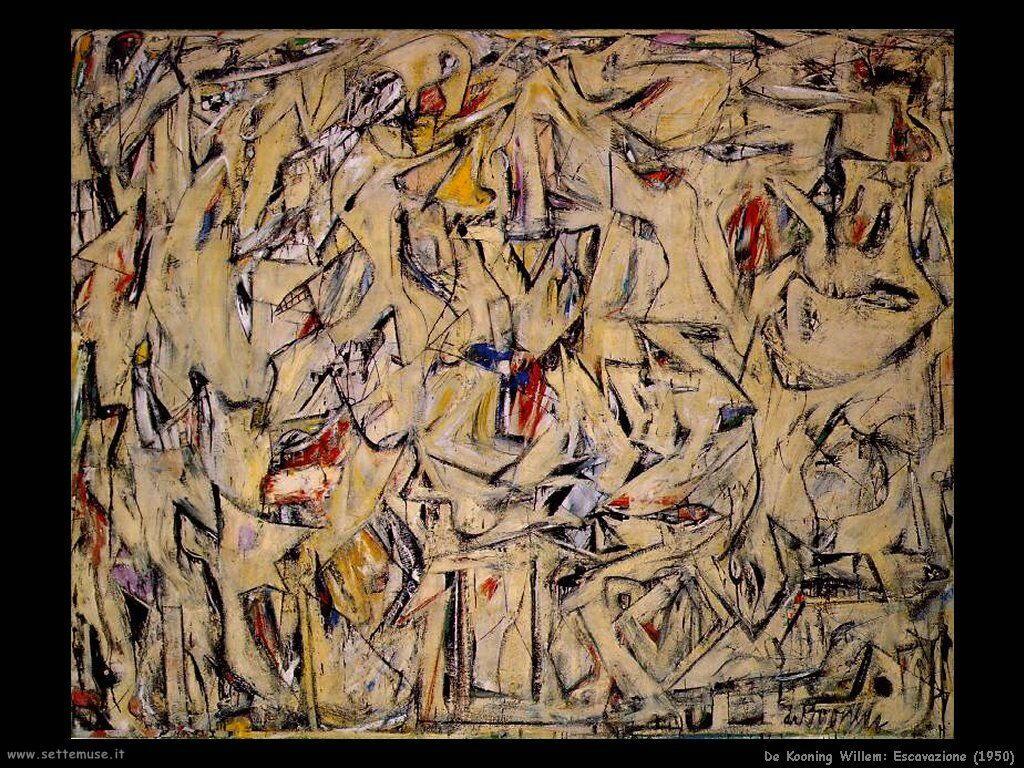 de_kooning_willem Escavazione (1950)