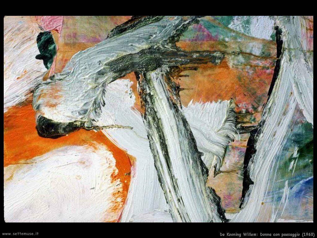 de_kooning_willem Donna con paesaggio (1968)