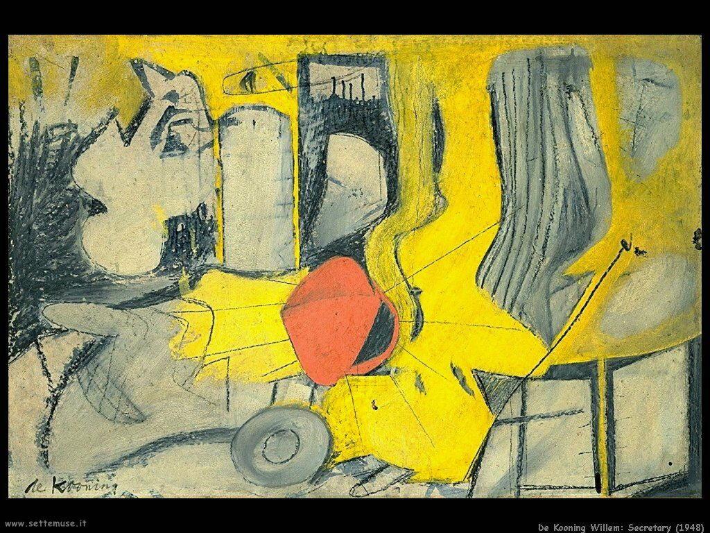 de_kooning_willem Segretaria (1948)