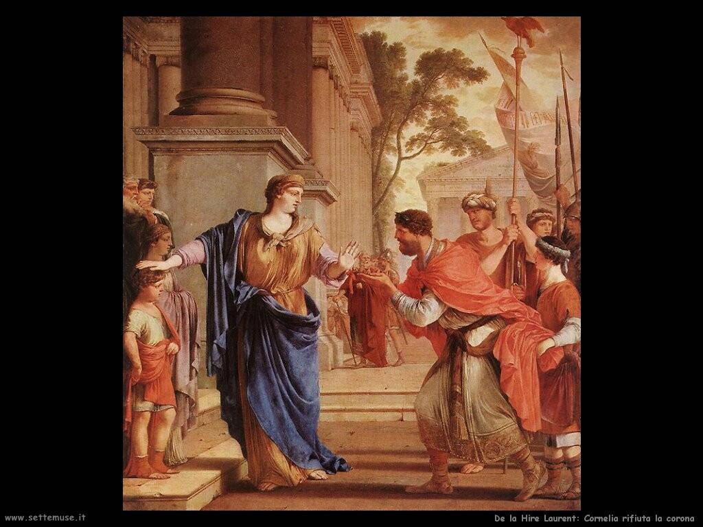 de la hire laurent Cornelia rifiuta la corona