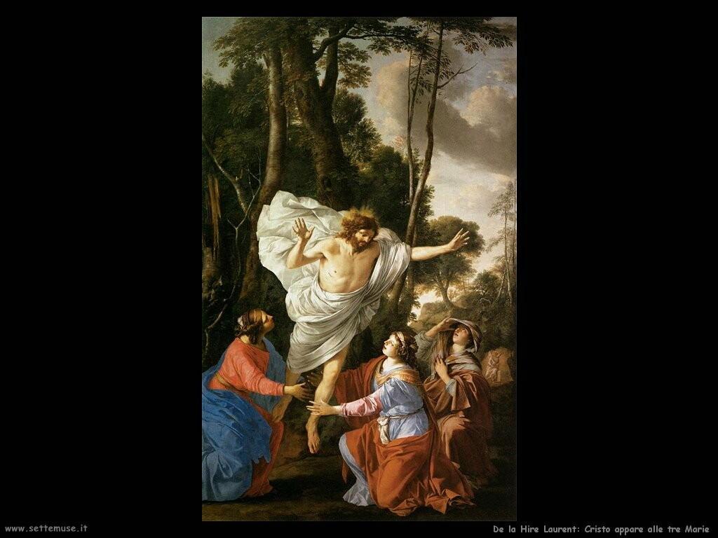 de la hire laurent  Gesù appare alle tre Marie
