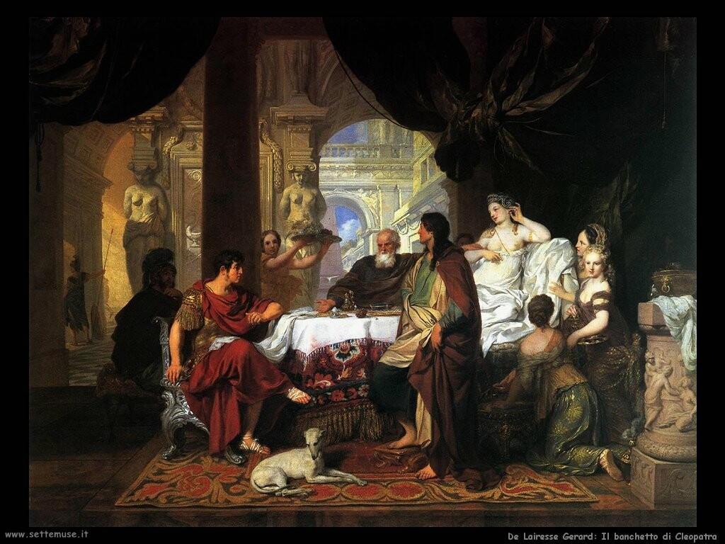 de lairesse gerard Il banchetto di Cleopatra