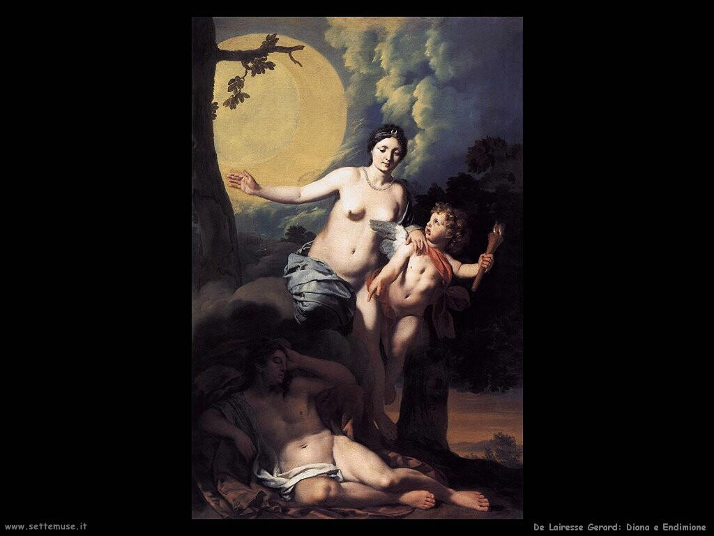 de lairesse gerard Diana e Endimione